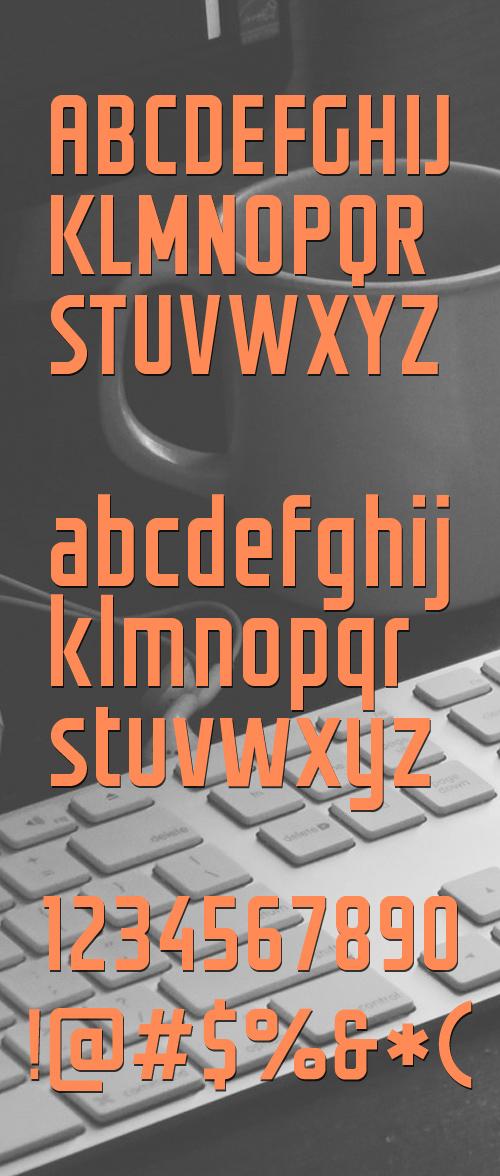 Groteskia free font letters