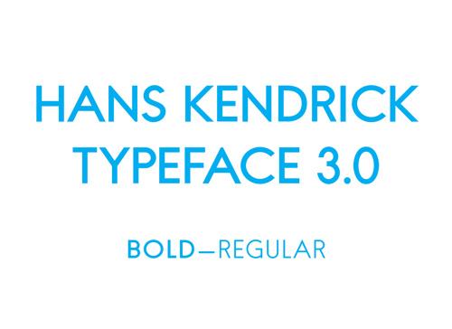 Hans Kendrick free font family download