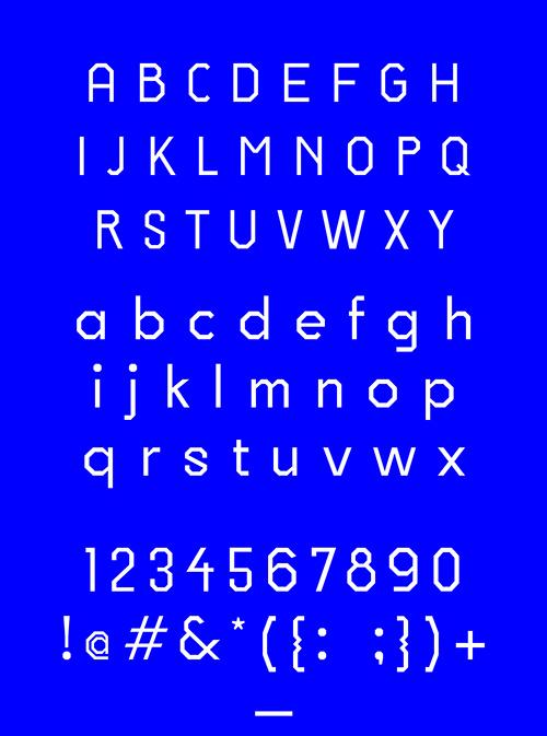 Hard Edge free font letters
