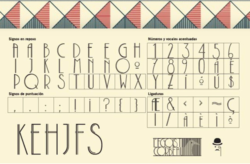 L'egoist Corbeau free font letters