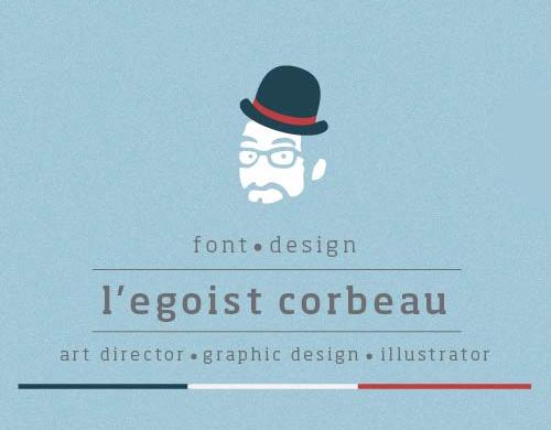 L'egoist Corbeau free font family download