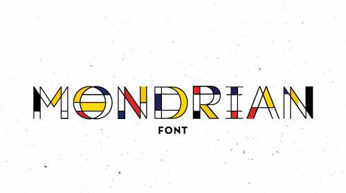 Mondrian free font family download