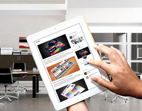 Photorealistic Tablet Mockup Template