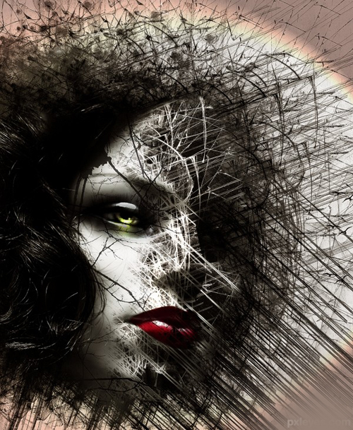 Create a Chaotic Disintegration Effect on a Face in Photoshop Tutorial