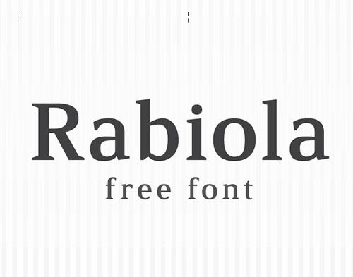 Rabiola free font family download