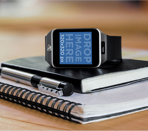 Samsung Galaxy Gear 2 Smartwatch Mockup