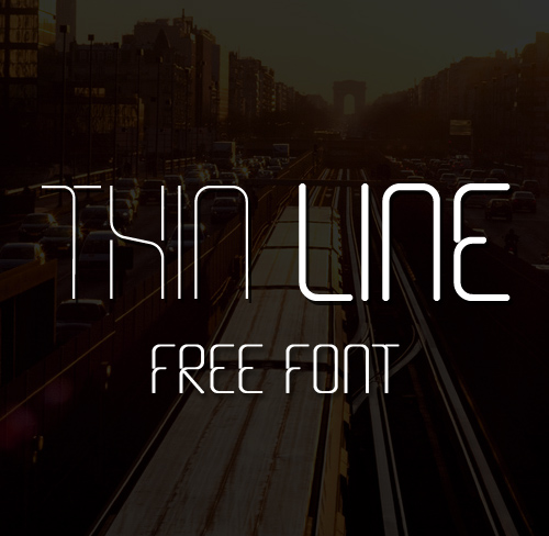 Thin Line free font family download