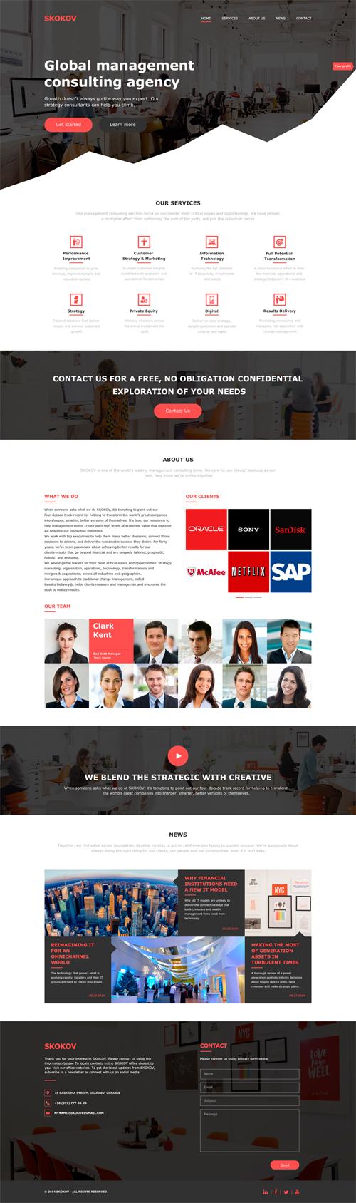 Free Business PSD Template (PSD)