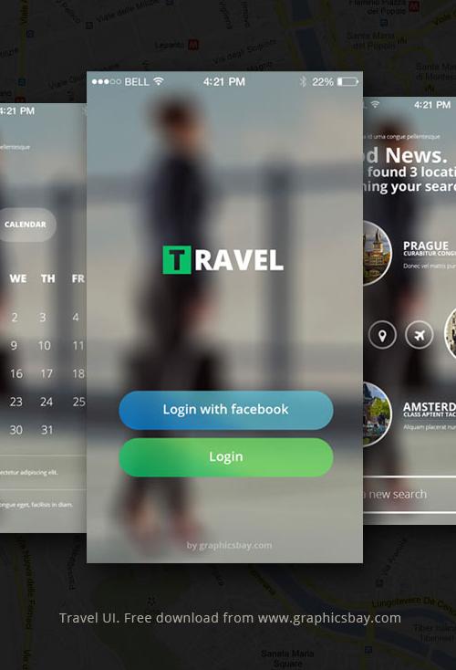 Free PSD Travel App