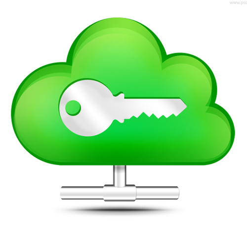 Secure cloud storage icon (PSD)