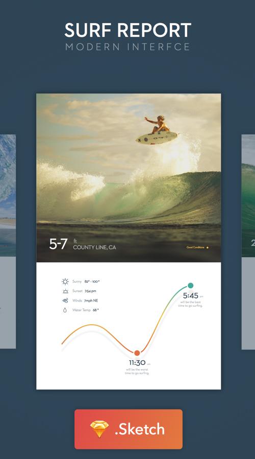 Surf UI - Sketch Freebie