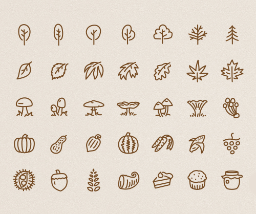 50 Autumn Inspired Vector Icons