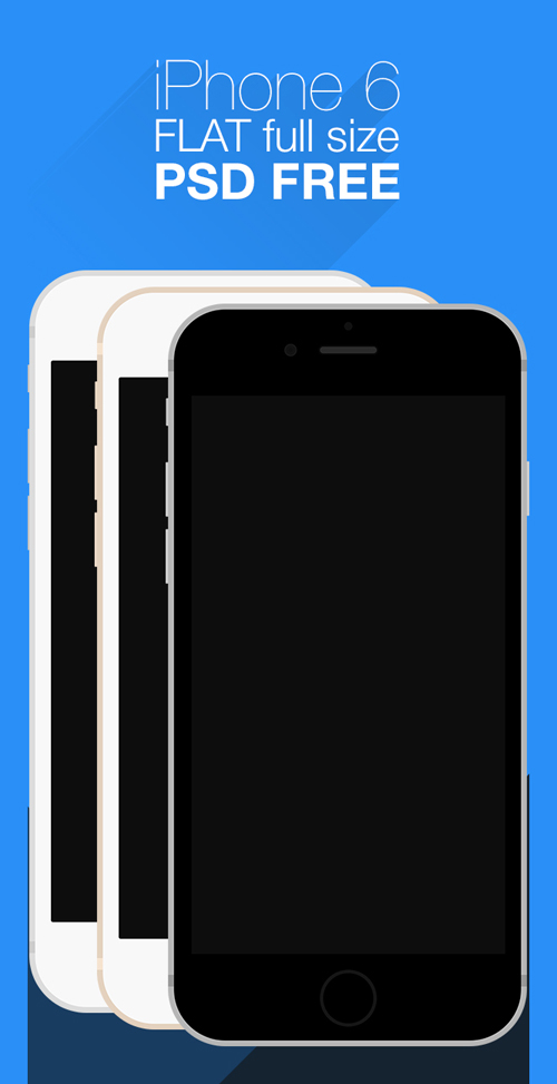 Free iPhone 6 and iPhone 6 Plus Mockup Templates (PSD, AI & Sketch) - Free Download - 1