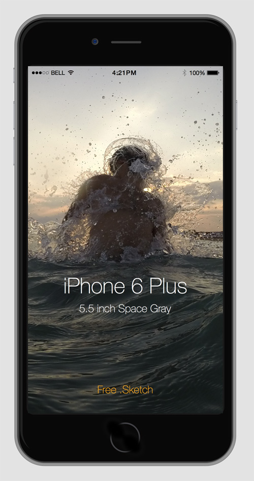 Free iPhone 6 and iPhone 6 Plus Mockup Templates (PSD, AI & Sketch) - Free Download - 23