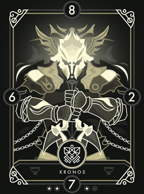 Create a Modern Fantasy Card Design for Eminence: Xander's Tales in Illustrator