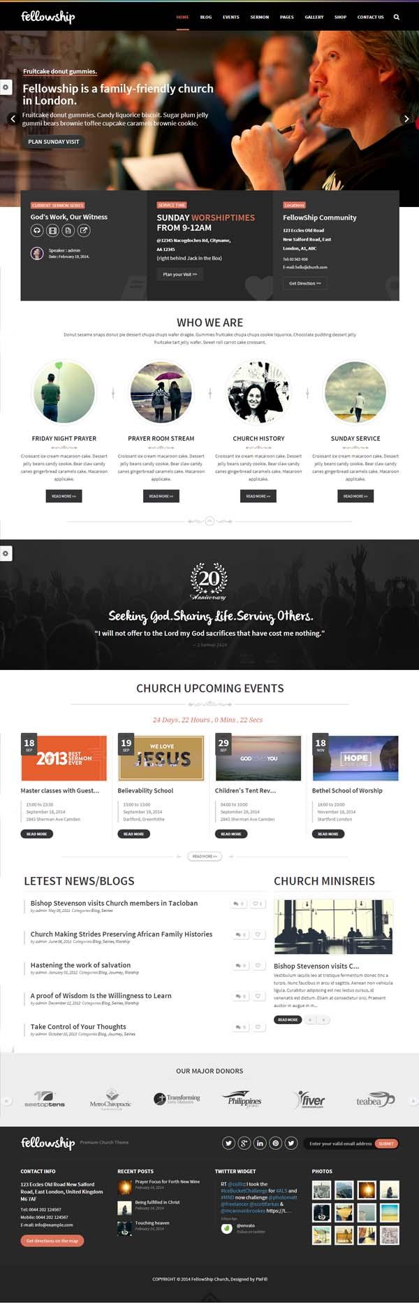 FellowShip – Church WordPress Theme