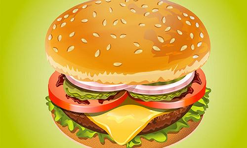 How to Create Realistic Hamburger in Adobe Illustrator Tutorial