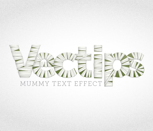 How to Create Mummy Text Vector for Halloween in Illustrator