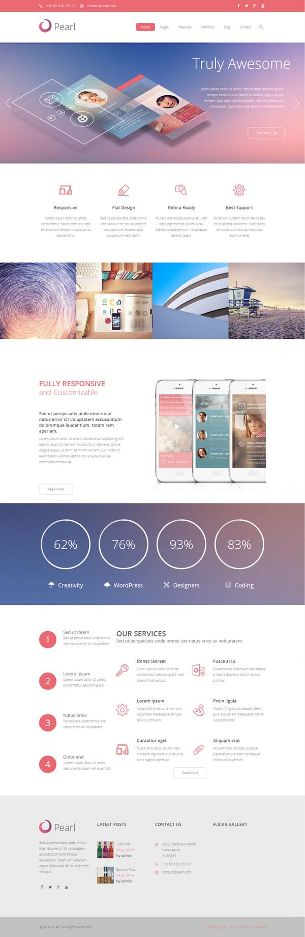 Pearl – Responsive Business WordPress Theme
