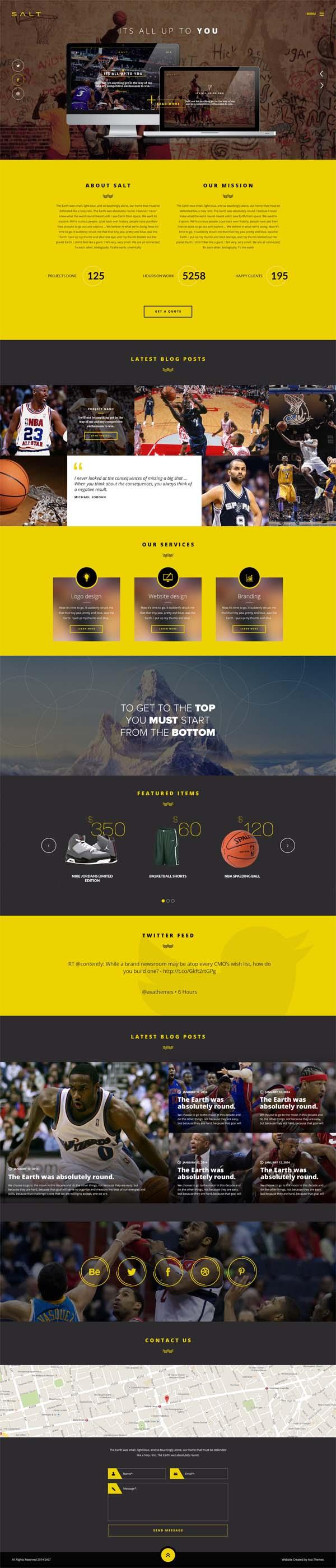Salt – Parallax OnePage WooCommerce WordPress Shop
