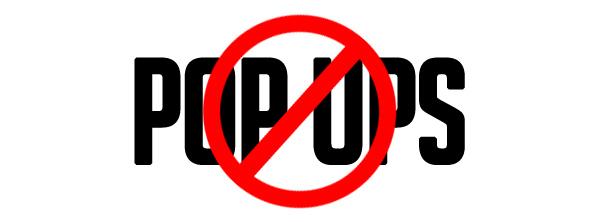 Unwanted Popups