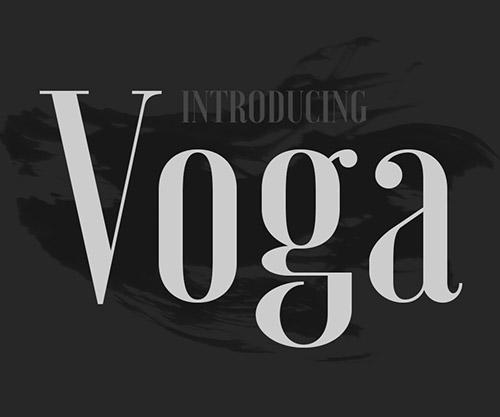 Voga Free Font (Medium)