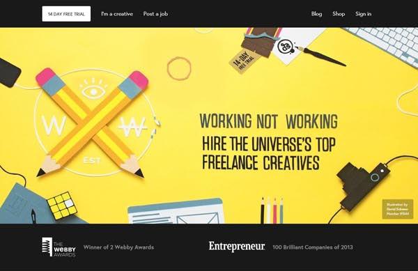 Flat Websites Design : 32 New Flat Web Design Examples 17