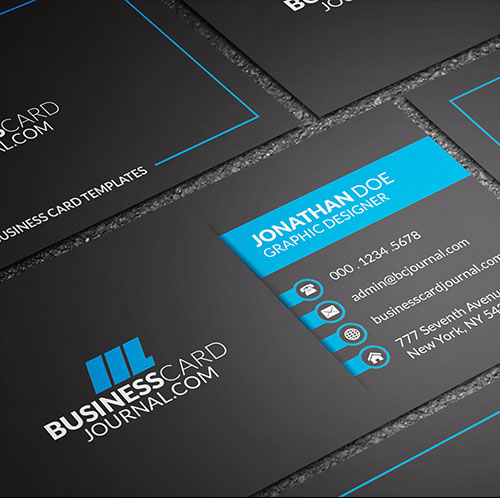 Dark & Bold Corporate Business Card Template