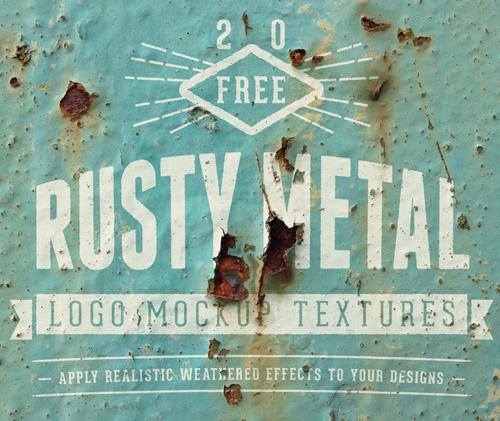 Free Rusty Metal Logo Mockups
