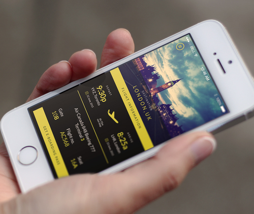 Free Travel App PSD Template