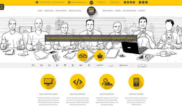 Illustrated Websites - 10