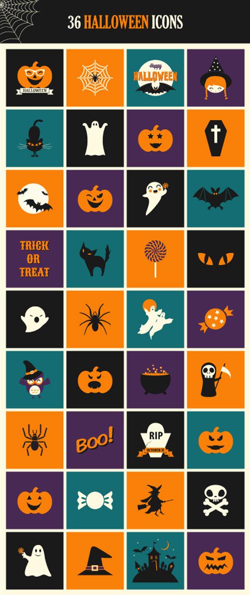 Halloween Icon Set (PSD, AI & EPS)
