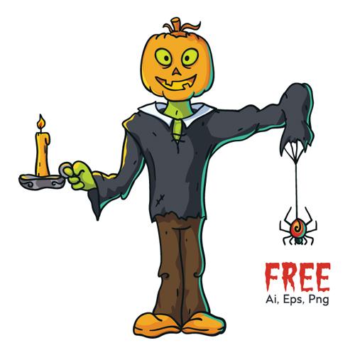 Pumpkin Head Character