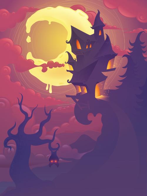Mysterious Halloween Scene