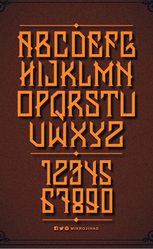 Banten Unfamous free font