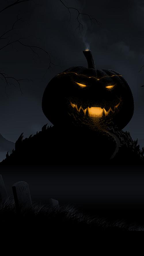 Pumpkin Castle iPhone Wallpaper