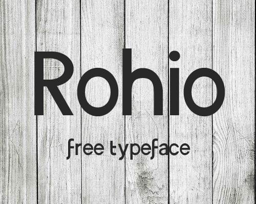 Rohio free font