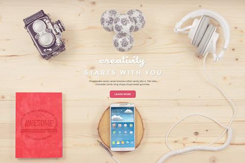 Creativity Bundle: 12 Free PSD Mockups