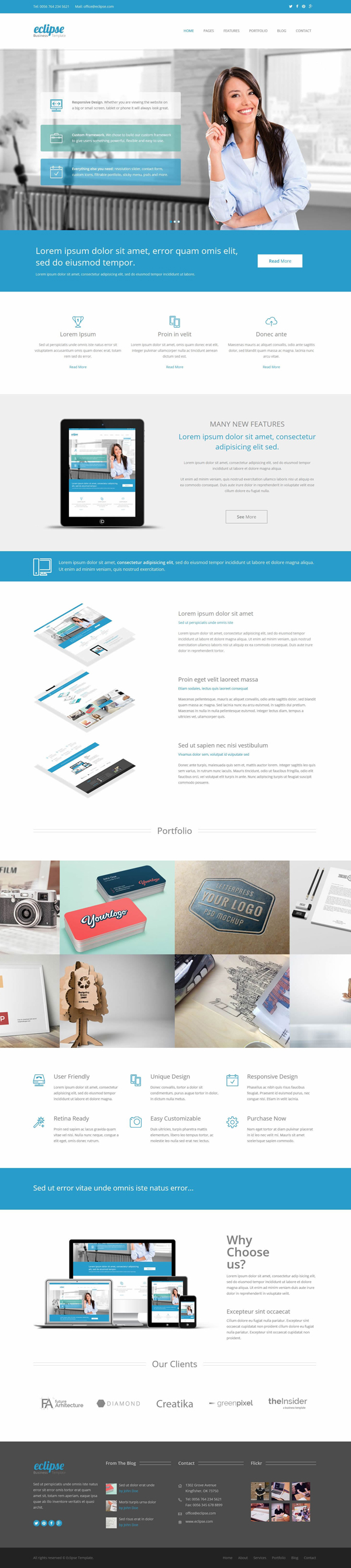 Eclipse - Responsive Business HTML5 Template