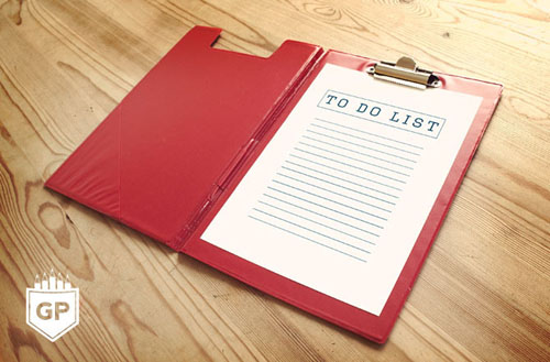 Free Notebook PSD Mockup