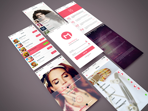 Freebie - App Screen PSD Mockup