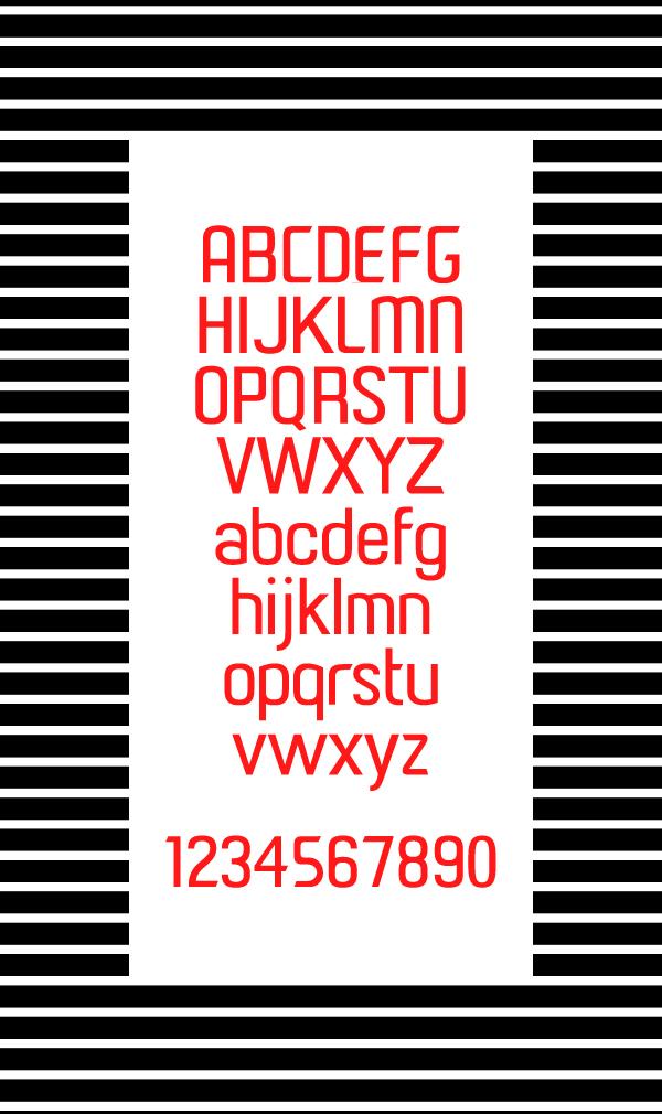 Paragon Font Letters