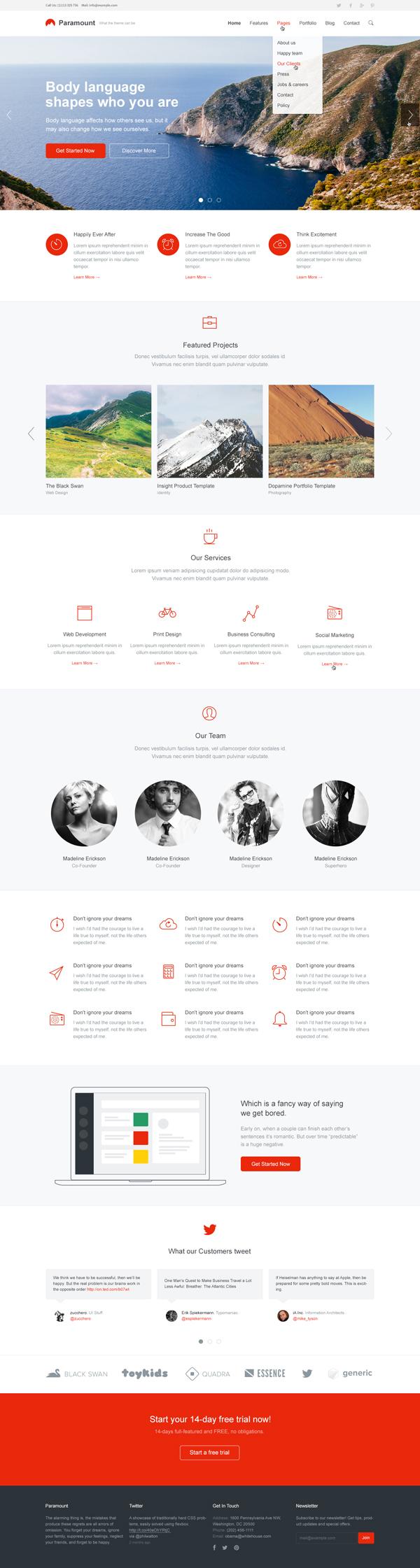 Paramount — Responsive HTML Template