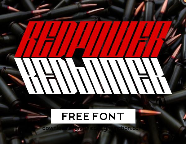 Redpower Free Font