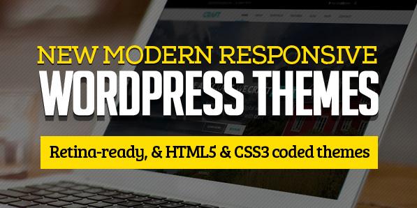 15 New Modern Responsive WordPress Themes
