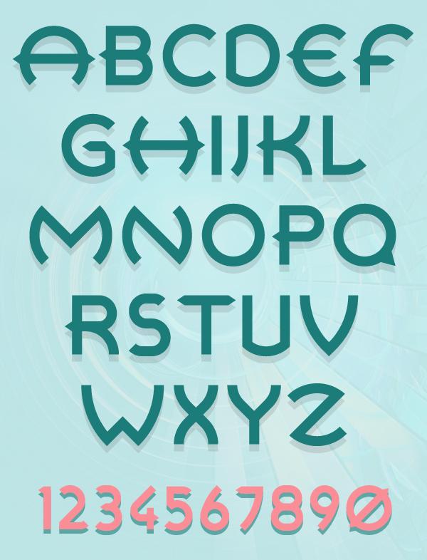 Retrospective Font Letters