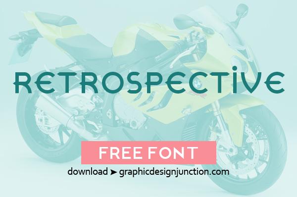 Retrospective Free Font