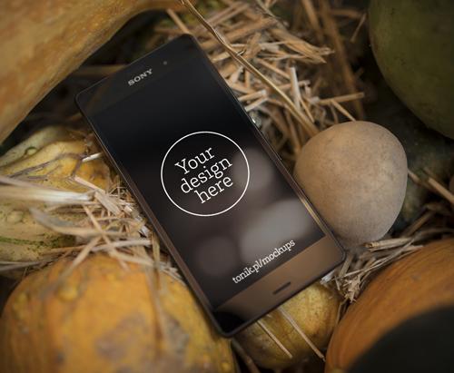 Sony Xperia Z3 Mockup