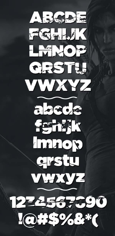 Tomb Raider Font Letters