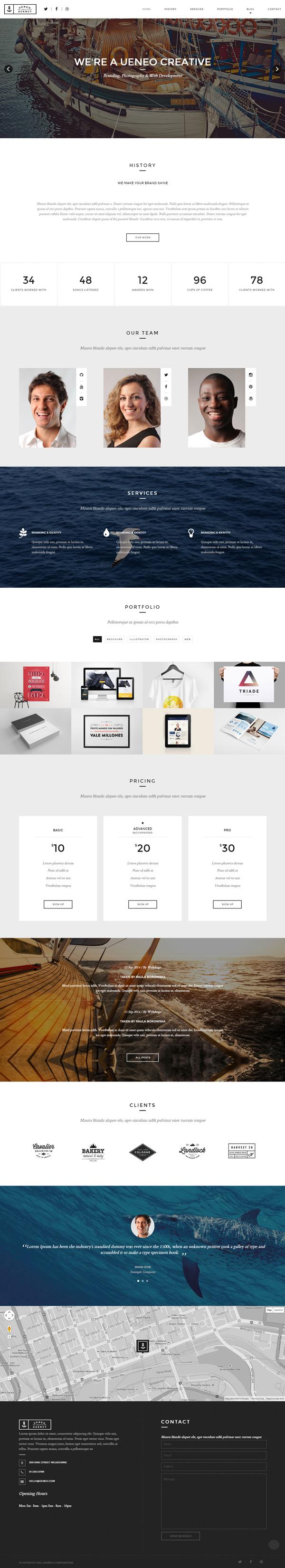 Ueneo - Creative One Page Parallax WordPress Theme